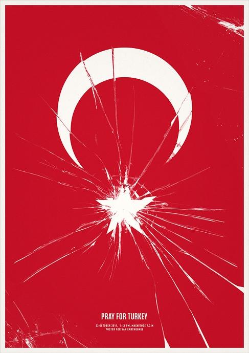 Pray For Turkey by Mehmet Gozetlik, via #Behance #Design #Poster