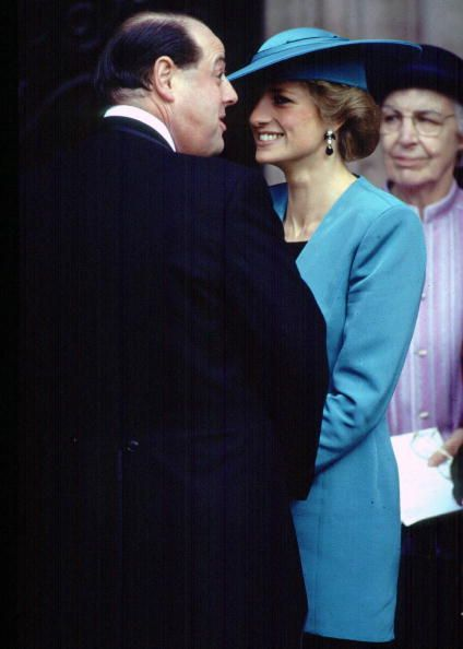 pprincess diana at nicholas soames wedding | princess diana laughs with nicholas soames at the wedding of her news ...