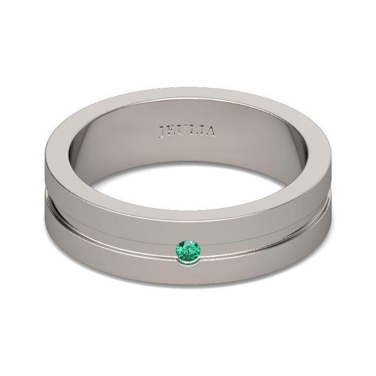 Jeulia Simple Polished Men's Wedding Ring - Jeulia Jewelry