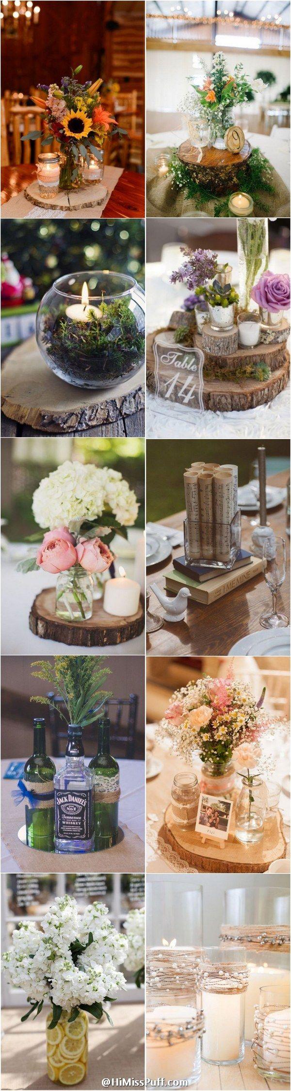 Country Rustic Wedding Centerpiece Ideas / http://www.himisspuff.com/rustic-wedding-centerpiece-ideas/