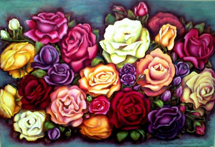 Roses(oil): Annemarié van Lingen du Toit