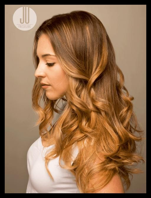 frisuren lange haare blonde straehnen   schöne frisuren