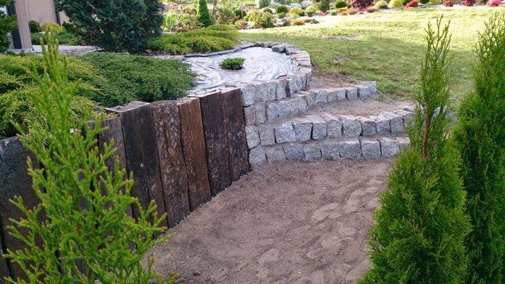 идея садовой лестницы своими руками палисад каменные ступеньки