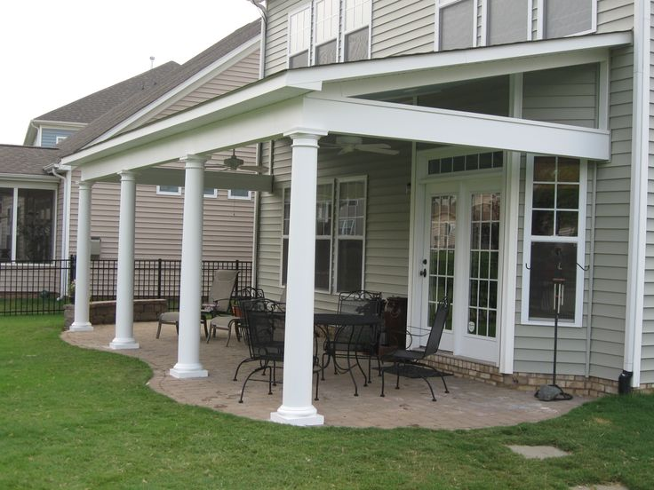 55 best porch roof designs images on pinterest for Shed roof porch designs