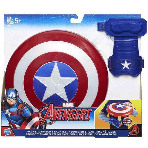 Bosszúállók: Amerika kapitány mágneses pajzs kesztyűvel - Hasbro