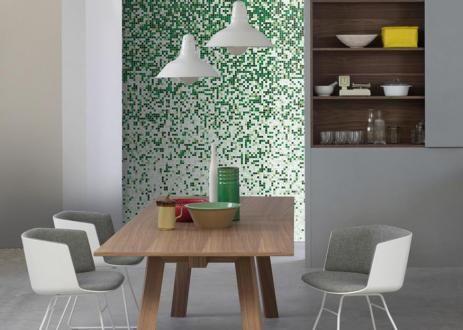 Sfumature 15x15 Greenwood | mosaico+ #mosaicopiu #rivestimenti #walldecoration #design #glassmosaic #mosaico
