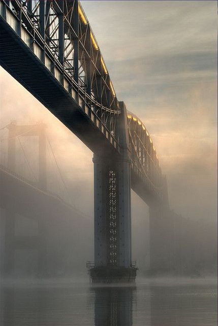 Royal Albert Bridge, by Isambard Kingdom Brunel.  Spans the River Tamar between Plymouth in Devon, and Saltash in Cornwall.