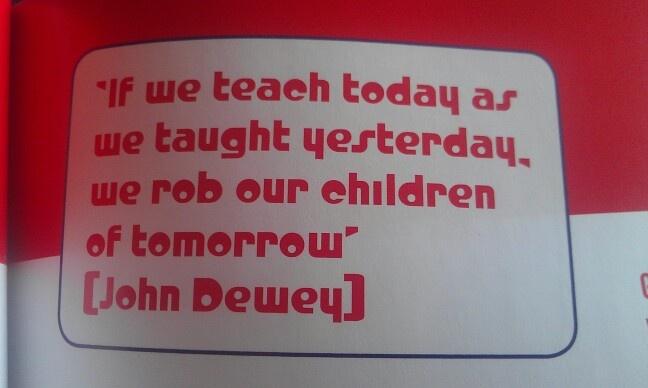 Mooie slogan aangaande #onderwijsvernieuwing