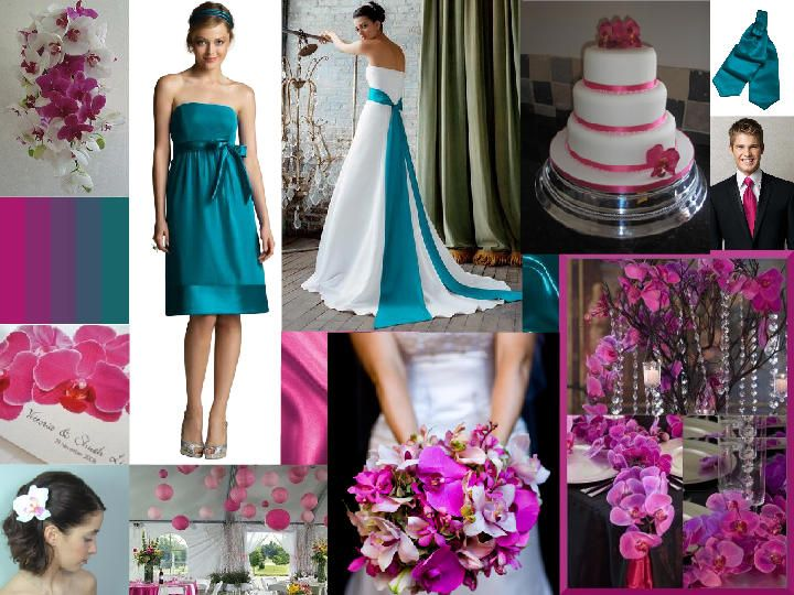 Turquoise Fuchsia Wedding: 17 Best Images About Hot Teal And Fuchsia On Pinterest