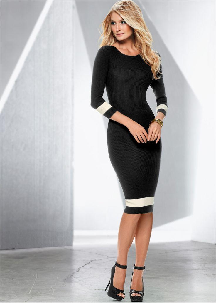 Jurk zwart nu in de onlineshop van bonprix.nl vanaf ? 35.99 bestellen. Chic en feminien! Gebreide jurk met duidelijke en slanke lijnen. Accentuerend. Lengte ...