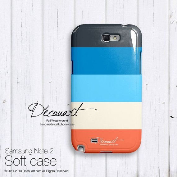 Stripes Samsung galaxy S3 case, Samsung galaxy S4 case, Samsung galaxy S2 case, Samsung Note 2 case, navy papaya baby blue S498