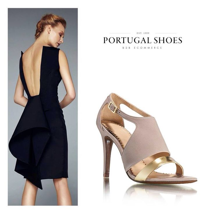 """The little black dress"""" calls for these glamorous #JJHeitor sandals! Request acess and order today: http://bit.ly/1Qxdg8M"""