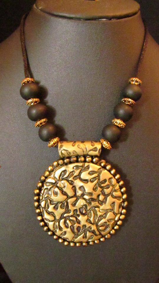 clay beads and pendent by tanmaya jewellary