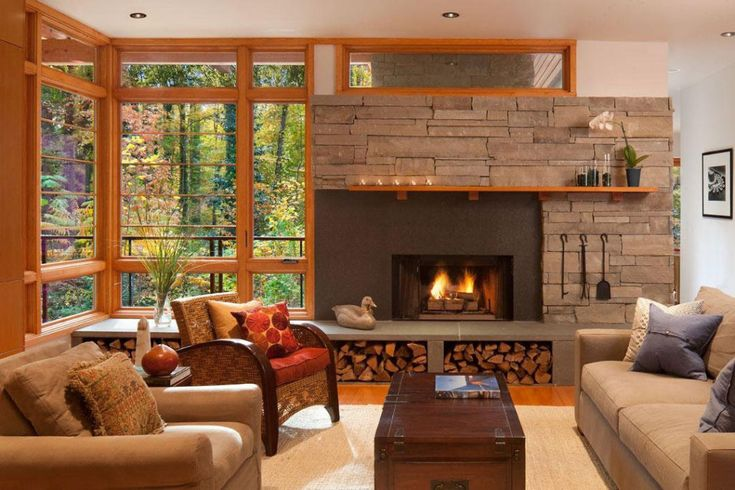 Stone Fireplace Designs, The Ultimate in Style and Beauty - http://evafurniture.com/stone-fireplace-designs/