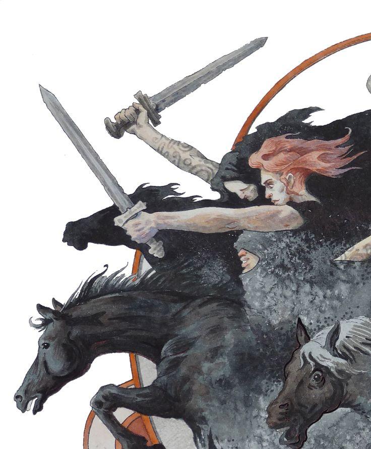 Dmitrij Ilyutkin | Nine black horsewomen 2