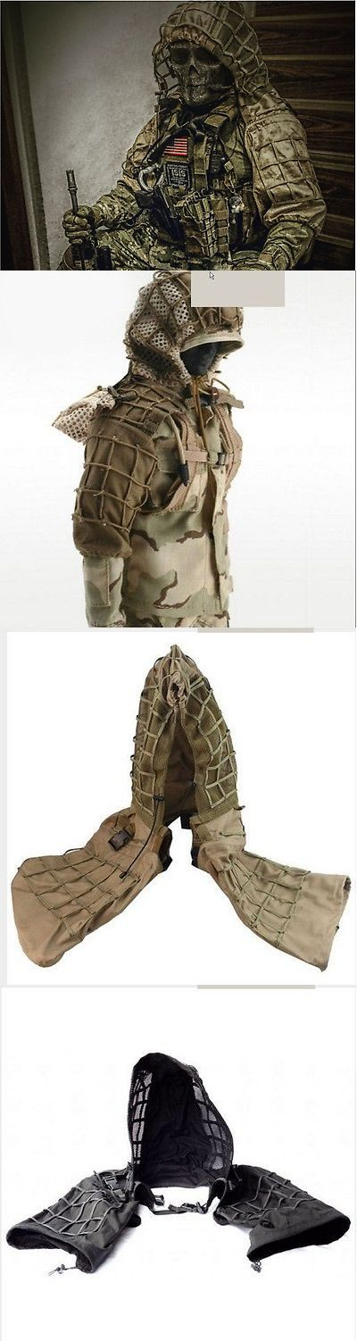 Ghillie Suits 177870: Sniper Hunting Paintball Army Military Ghillie Suit Yowie Camouflage Hood Veil -> BUY IT NOW ONLY: $72 on eBay!