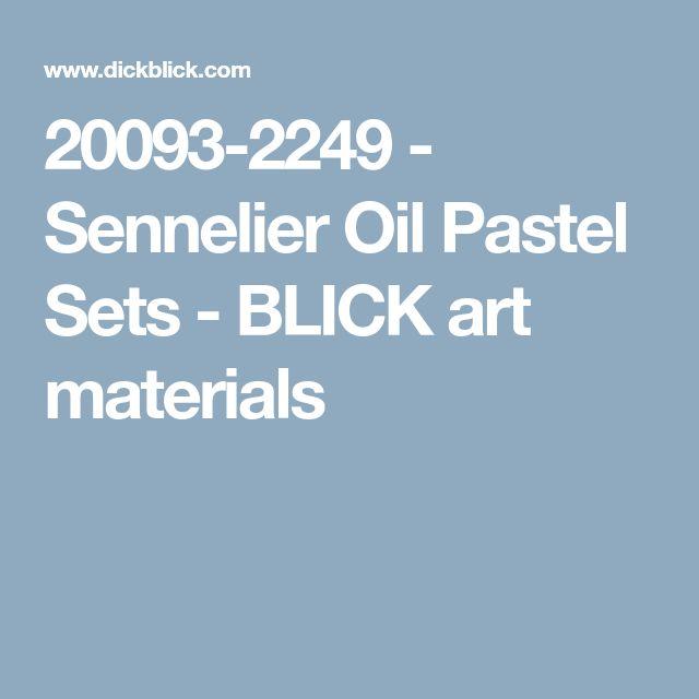 20093-2249 - Sennelier Oil Pastel Sets - BLICK art materials