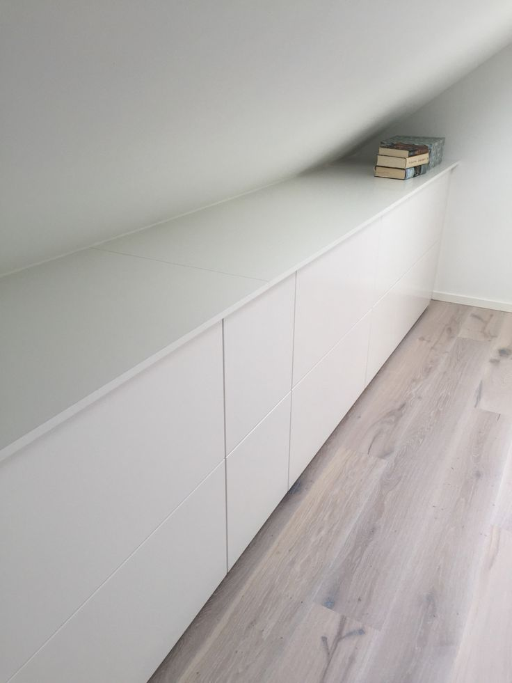 Ikea kitchen storage as drawers for clothes etc in out new attic bedroom....