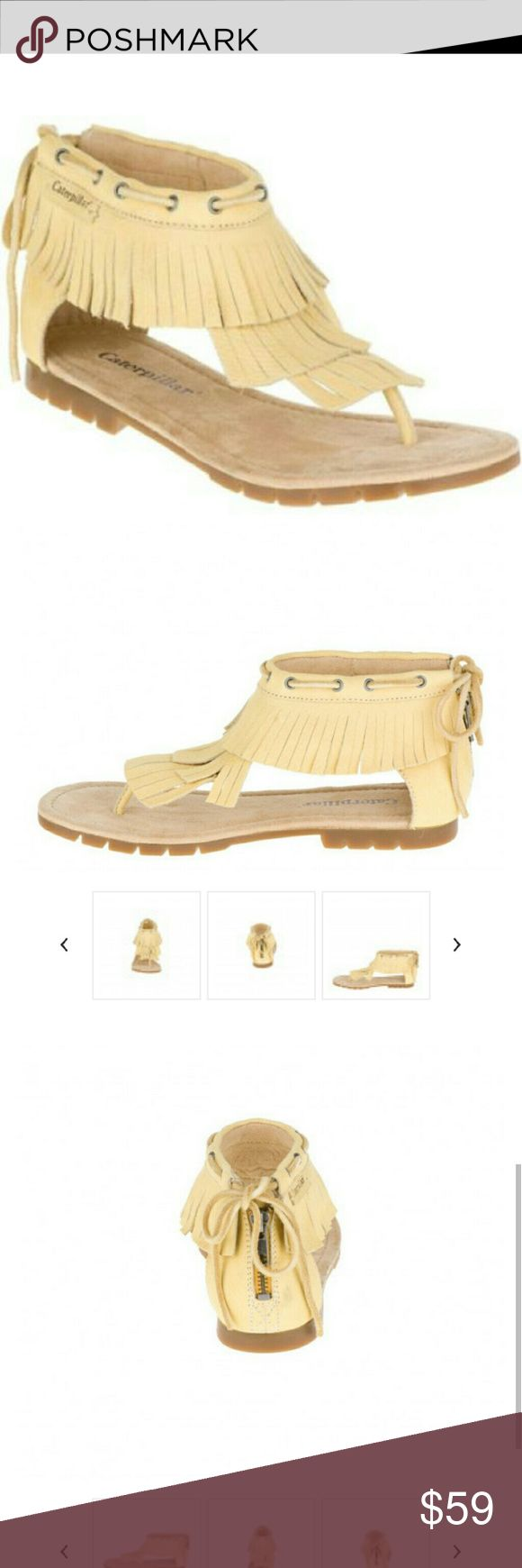 Caterpillar leather fringe sandals NWT, super comfortable and sexy! Tts. Caterpillar Shoes Sandals