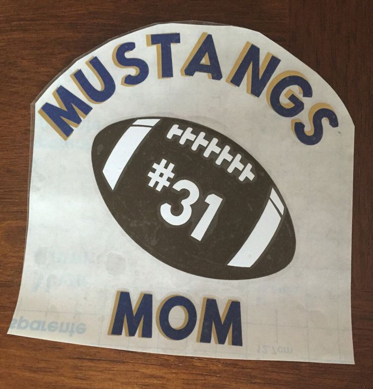 Football mom personalize vehicle window decal kids team name and number team colors vinyl sticker window sticker