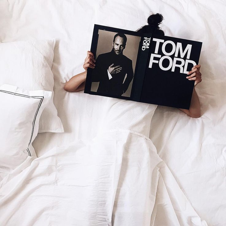 """HUESOFWHITE.COM ➖ """"Sundays are for messy buns and Mr Tom Ford ➖Head over to huesofwhite dot com for this months book…"""""""