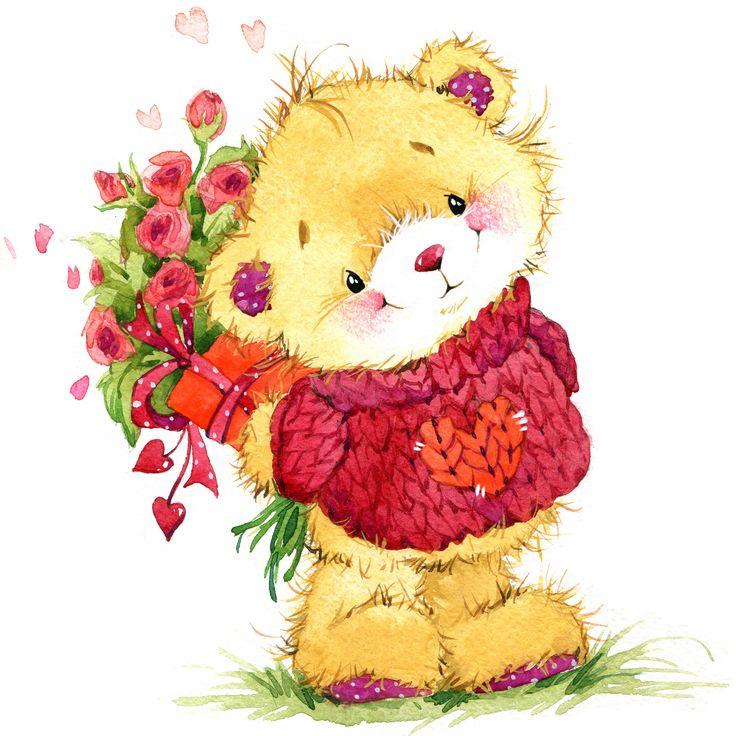 Влюбленных поздравительные, нарисованные картинки с поздравлением
