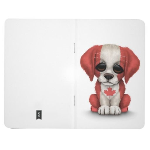 Cute Patriotic Canadian Flag Puppy Dog Journal