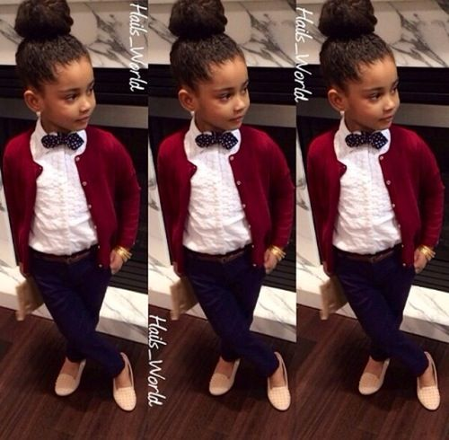 Little girl swag out