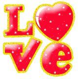 leuke en gratis liefde glitter gif animaties