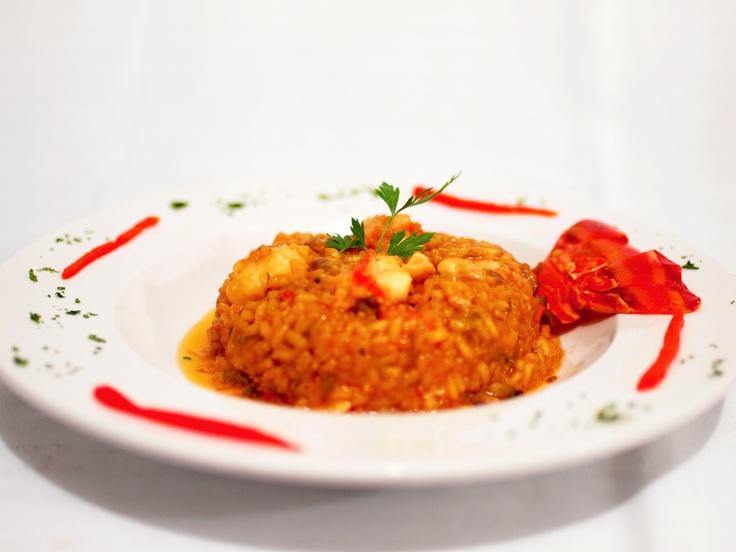 RISOTTO de LANGOSTA  en Restaurant Bar Sirocco Acapulco mas de 40 años haciendo Paellas Arroces & Risottos