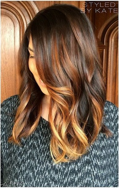 love this - brunette with highlights hair color ideas
