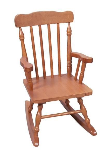 The Gift mark Hand Crafted Colonial Rocking Chair is Designed for Beauty and Durability. Each Spindle is Hand carved, with Great Detail. Each Spindle Rocking Ch