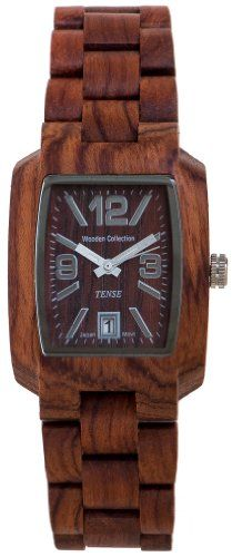 Tense Men's Timber African Rosewood Rectangular Hypoallergenic Watch (Brown) //Price: $145.00 & FREE Shipping //     #Watches Big Sale
