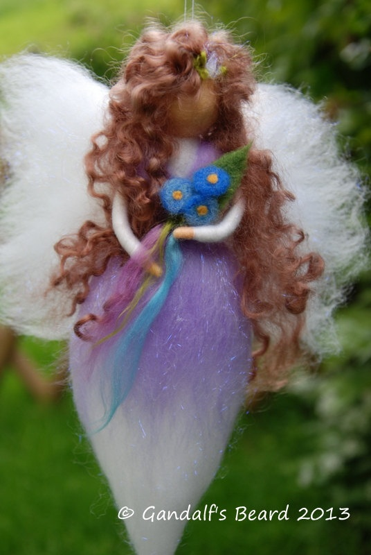 Needle felted wool fairy,guardian angel,Waldorf angel,gift for a girl,home decor via Etsy