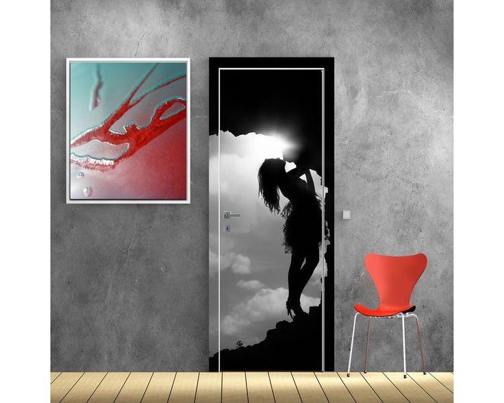 Girl in a cave, αυτοκόλλητο πόρτας , δείτε το!
