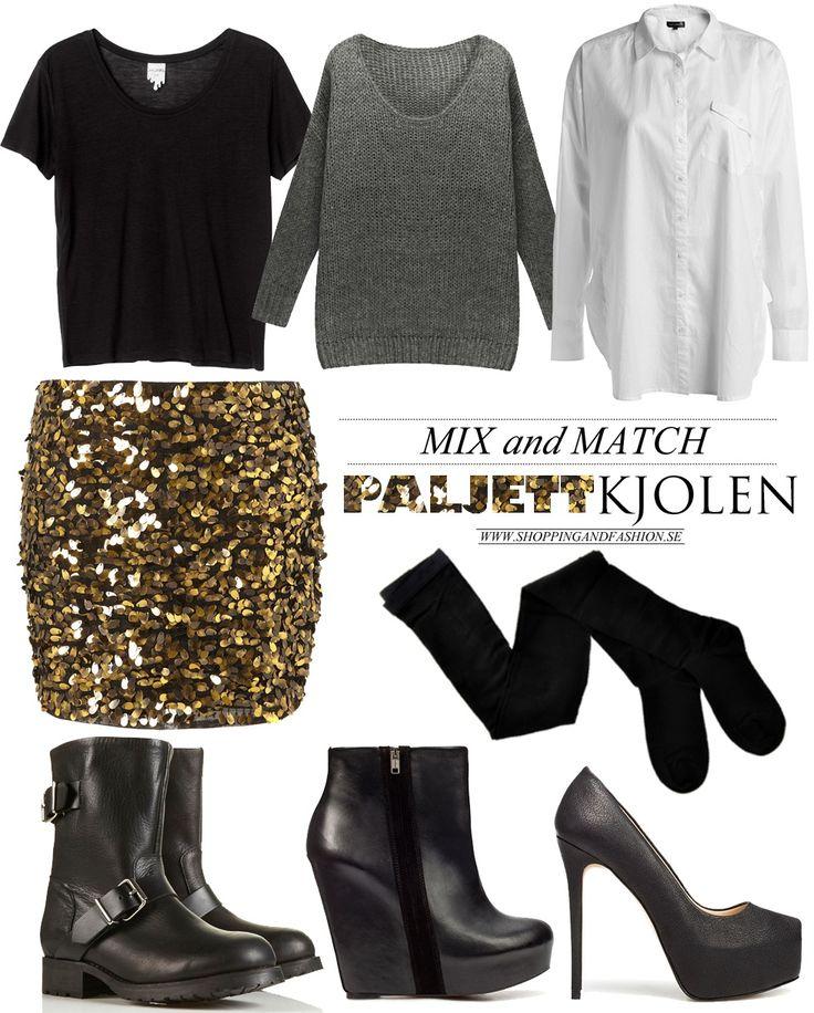 Mix and Match Clothes | Shopping & Fashion » Mix and match | Den guldiga paljettkjolen |
