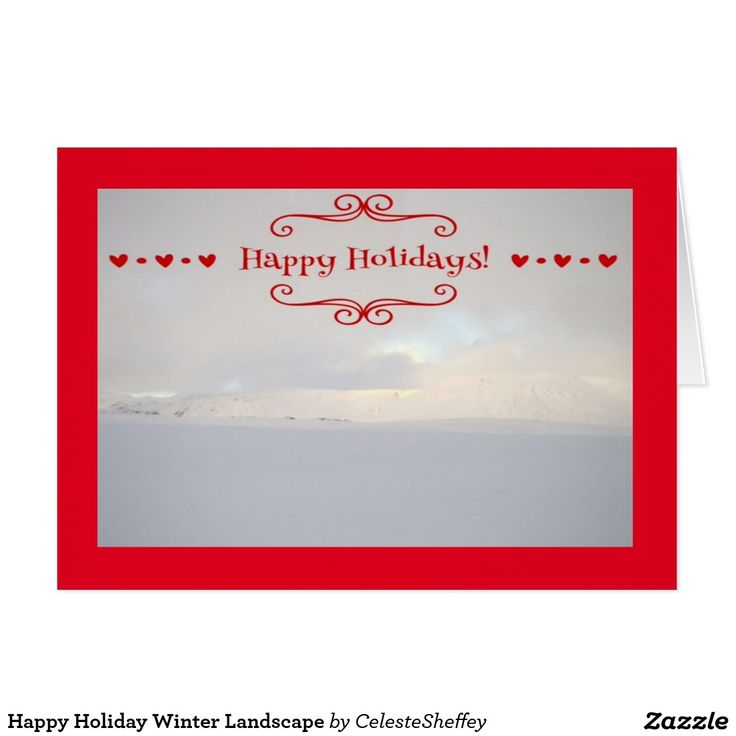 Happy Holiday Winter Landscape Card by khoncepts.com