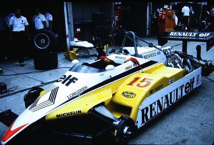 (Alain Prost's) Renault RE30B - Renault-Gordini EF1 1.5 V6 (t/c) 1982 British Grand Prix, Brands Hatch © Renault Sport F1 / John Millar | Source: Fickr