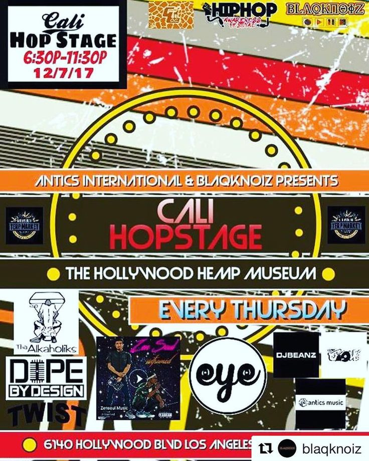 Catch EYE this Thursday night LIVE w/ @blaqknoiz  at @hollywoodhempmuseum #hollywood #hemp #muaic #hollywpodhempmuseum #livemusic #nicepeople #hiphop #420culture #losangeles