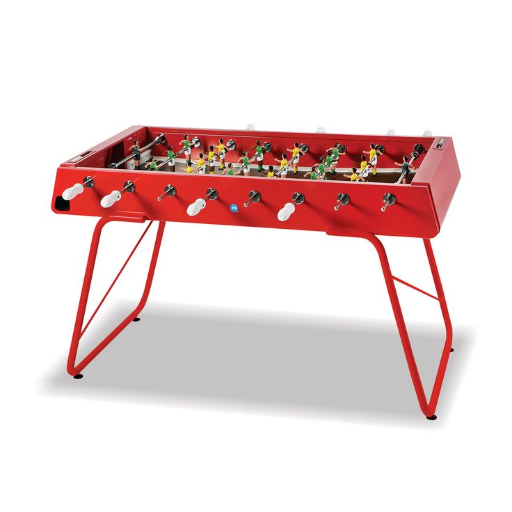 Steel Outdoor Foosball Table in Red | Thos. Baker