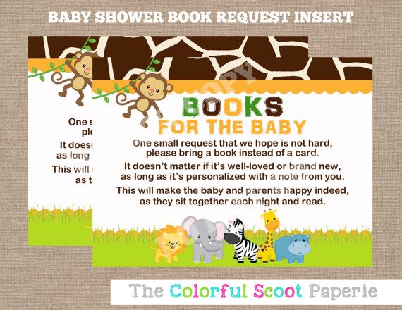 INSTANT DOWNLOAD, Bring A Book Cards, Bring A Book Baby Shower Cards,  Request