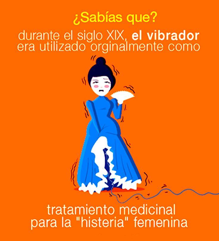 """¿Sabías Que? Durante el siglo XIX el vibrador era utilizado originalmente como tratamiento medicinal para la """"histeria"""" femenina. →  Sabias Que, Datos Curiosos, Curiosidades"""