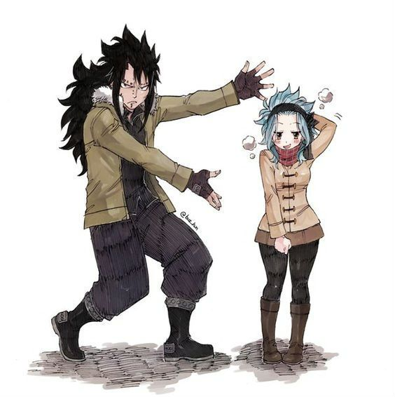 Gajeel x Levy Copying Will Smith and Jada Smith pose lol