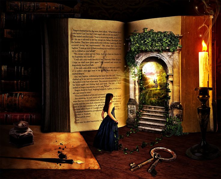 Escaping into novels.