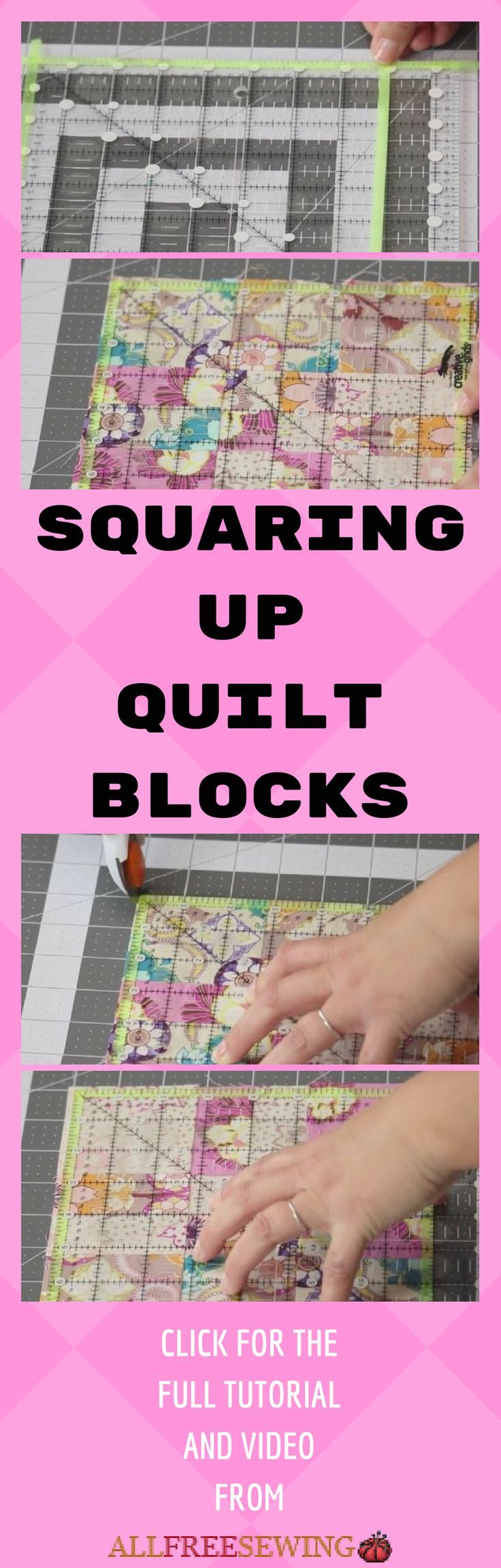 Learn how to square up a quilt block with this video tutorial.
