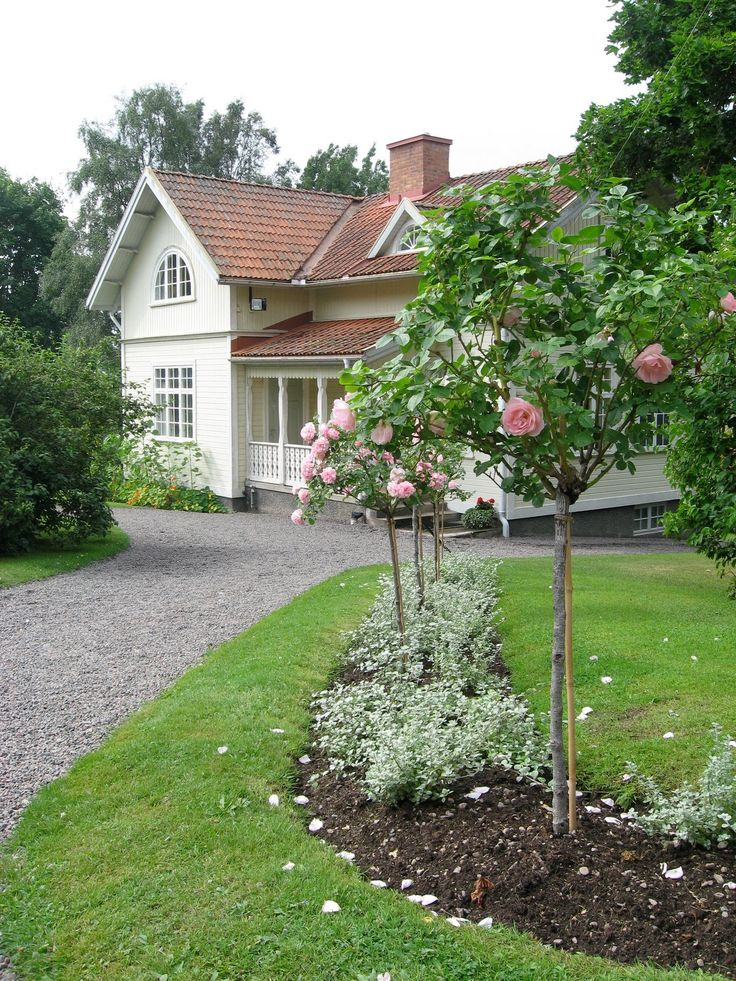 great swedish house and beautiful garden with gravel drive