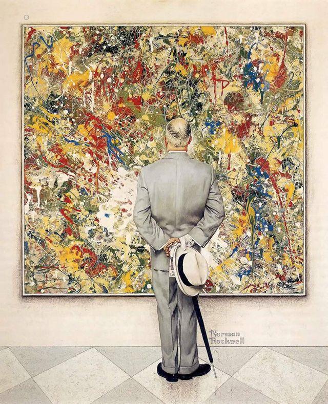 Beauty n beauty ! C'est autour du tableau « The Connoisseur » de Norman Rockwell que Kota Iguchi crée ses animations psychédéliques. A Norman Rockwell painting in psychedelic animations