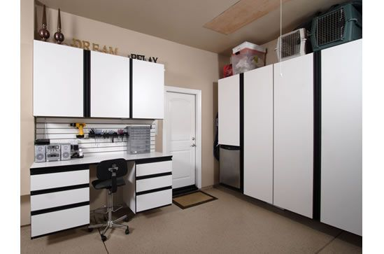 #Garage space can double as office space   http://www.closet-doctor.com/