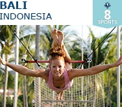 Bali Club Med. Marvellous holiday resort for all the family. They even have a trapeze for the children to learn to be circus performers.