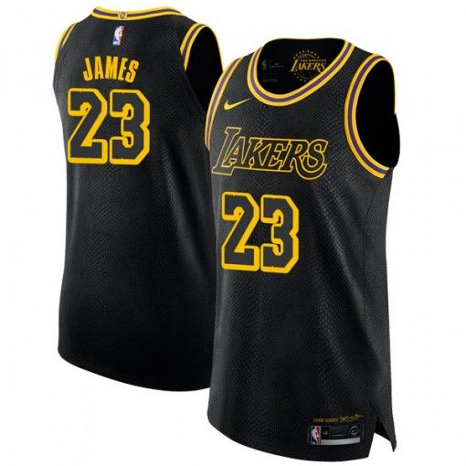best service c984f c7b3f Men's Los Angeles Lakers LeBron James Black Swingman Jersey ...
